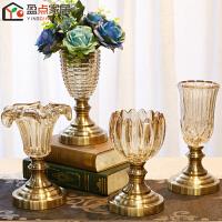欧式摆设饰品家居小花瓶摆件玻璃客厅样板房餐厅插花装饰工艺礼品