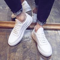 夏季男鞋小白鞋男韩版潮流内增高白色板鞋男透气百搭休闲运动鞋子