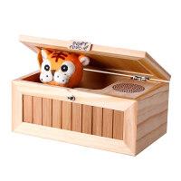 微博小老虎无聊的盒子猫创意整蛊玩具损友送女友生日礼物 实木有声版(送电池+解压魔方+礼品包装)