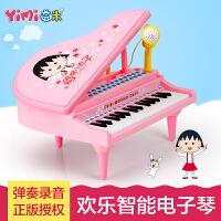 儿童电子琴麦克风女孩玩具 早教益智3-6岁音乐小孩宝宝钢琴 樱桃小丸子款