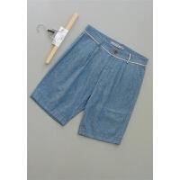 [X84-208]699亚麻男装裤子男士休闲短裤23