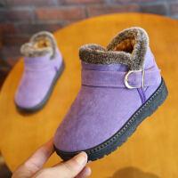 儿童雪地靴男童棉靴宝宝冬靴鞋冬季短靴子防水防滑卡通靴