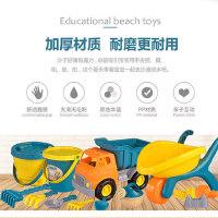 沙滩挖沙儿童工具玩沙子玩具套铲子桶装宝宝沙滩车户外挖土小推车