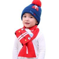 儿童帽子   保暖毛线针织帽  小孩围脖套装  宝宝帽子   围巾两件套