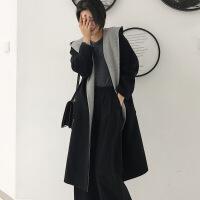 毛呢外套女中长款2018新款秋冬流行双面呢子大衣外套零仿羊绒
