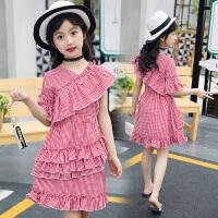女童连衣裙夏装新款荷叶边拼接裙儿童裙子夏季韩版洋气公主裙