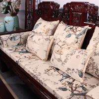 ???红木沙发坐垫中式古典实木家具靠垫防滑加厚罗汉床垫子五件套定做