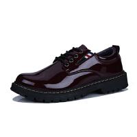 男士休闲皮鞋男黑色韩版潮流增高社会百搭软面皮发型师英伦小皮鞋