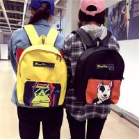 潮包双肩包女帆布漫画二次元多功能学生韩版校园书包