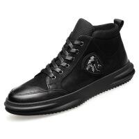 新年优惠【NEW】秋季马丁靴皮皮靴内增高中帮潮流短靴韩版子 增高