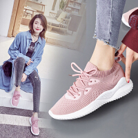 运动鞋女新款网面轻便软底跑步鞋初中学生韩版百搭休闲旅游鞋