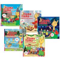 羊驼拉玛系列5册套装 英文原版 Llama Llama 英文版 儿童英语启蒙绘本 正版进口原版睡前晚安故事书