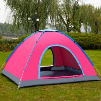 户外帐篷2秒全自动速开 2人3-4人露营野营双人野外免搭建沙滩套装