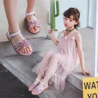 女童凉鞋水钻公主童鞋2019儿童夏季凉鞋韩版公主凉鞋 女童水钻