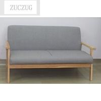 ZUCZUG日式简约小户型实木扶手沙发田园客厅阳台咖啡厅单人双人三人沙发