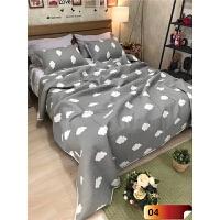???绗缝床盖三件套纯棉夏凉被床罩双人床夹棉铺盖加厚床单空调被 灰色 04 230x250cm