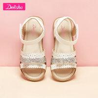 【3件2折�r:65.8】笛莎女童�鲂�夏季新款中大童公主鞋�����底鞋子�n版�和�童鞋