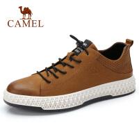 camel骆驼男鞋秋季新款休闲鞋男运动风舒适牛皮鞋防滑韩版潮流板鞋