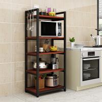 微波炉厨房置物架落地多层省空间烤箱白色碗架调味料收纳架子储物