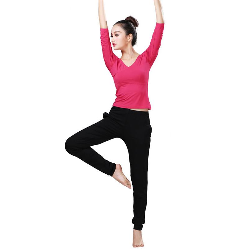 拉丁舞服装 学生女形体练功服套装拉丁演出运动舞蹈服秋冬瑜伽服两件套 玫红 XL 发货周期:一般在付款后2-90天左右发货,具体发货时间请以与客服协商的时间为准