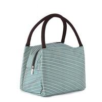 午餐饭盒袋子带饭拎包 小学生手提装   防水便当包  女日式保温袋帆布包