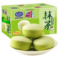 港荣蒸蛋糕抹茶味1kg早餐小面包整箱零食