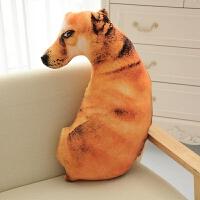 创意仿真狗狗抱枕3d毛绒玩具动物公仔大号布娃娃可爱女生睡觉玩偶