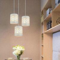吊灯外壳罩 简约台灯罩卧室直筒圆型客厅卧室创意diy田园铁艺配件