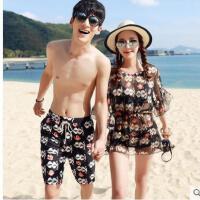 韩版情侣泳装比基衣女男帅气沙滩裤尼三件套钢托聚拢小胸显瘦游泳