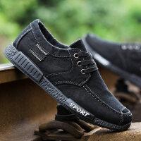 冬季新款男士帆布鞋韩版板鞋工作鞋子老北京布鞋男运动休闲鞋单鞋