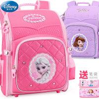 迪士尼书包1-3-4年级小学生女童冰雪奇缘苏菲亚女孩儿童双肩背包6