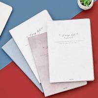 英文笔记本子文具B5简约大学生加厚加大b5胶套本大号记事本