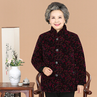 中老年人冬装女装棉衣60-70-80岁妈妈短款老人奶奶装棉袄外套