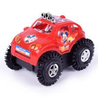 儿童米奇自动翻滚车翻斗特技车男女孩玩具车电动汽车赛车玩具 抖音 送电池