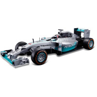 2017法拉利1:24奔驰AMG F1方程式遥控赛车仿真高速电动跑车 奔驰F1 44号汉密尔顿 赛车115 官方标配1