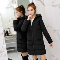 冬季新款羽绒棉衣女韩版中长款宽松加厚学生连帽棉袄外套