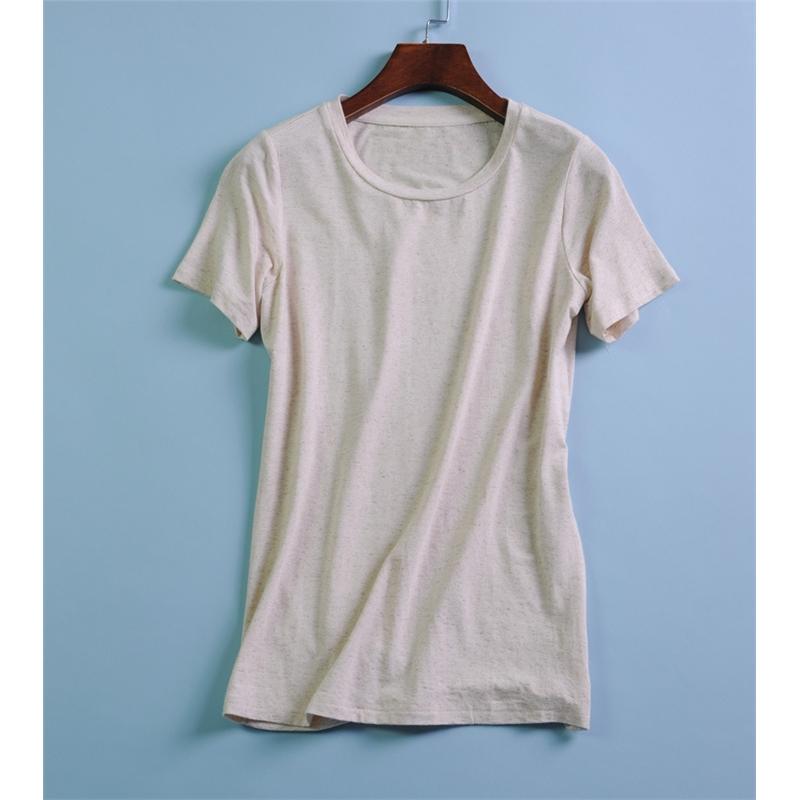 日本天然品质彩棉t恤 女士夏季新款T短袖圆领衫女式上衣 发货周期:一般在付款后2-90天左右发货,具体发货时间请以与客服协商的时间为准