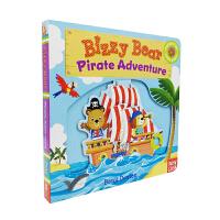 Bizzy Bear系列 Pirate Adventure 忙碌的小熊 海盗冒险 纸板活动操作书 英文原版绘本 小熊很忙