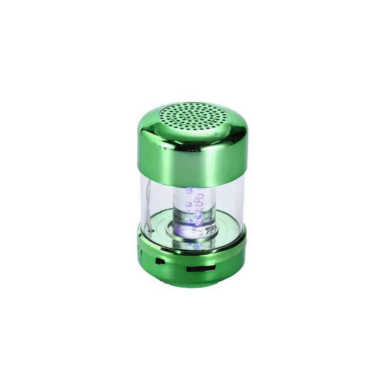 无线蓝牙插卡音箱车载低音小钢炮手机迷你便携式电脑音响 绿色 便携式车载低音