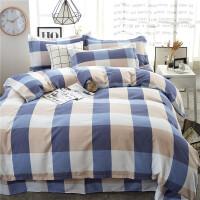 床上用品四件套加厚纯棉磨毛1.5米/1.8m床2.0被套床单4三件套