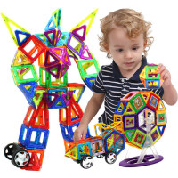 儿童吸铁石纯磁力片积木磁性磁铁玩具3-6-8周岁男孩散片拼装益智