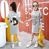 女童T恤春装儿童装中大童长袖8棉卫衣9女孩7宽松10上衣12岁韩版