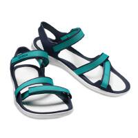 Crocs女鞋 卡骆驰2018新款夏季激浪织带女士休闲凉鞋/204804