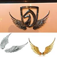 3D立体汽车金属装饰贴鹰翅车贴 车贴翅膀个性贴纸划痕贴外饰品 +强力背胶