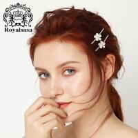皇家莎莎 发夹一字夹边夹侧夹刘海夹对夹韩国发卡子头饰时尚发饰