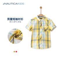 诺帝卡童装夏季男童衬衣中童衬衫男儿童衫衬男童纯棉衬衫