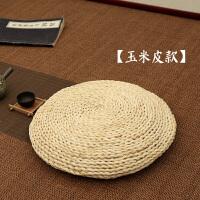 日式茶道垫草编飘窗垫榻榻米垫禅修垫打坐拜佛垫瑜伽圆形蒲团坐垫