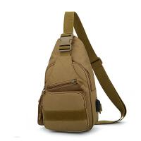 战术胸包单肩斜挎包男女士户外运动休闲多功能骑行腰包小背包挂包