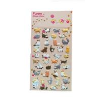 可爱贴 日记贴 立体贴 立体贴纸 泡棉贴纸-小猫