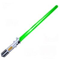星球大战8电能伸缩光剑激光剑原力觉醒后的绝地武士男孩玩具 荧光绿 62.5cm可伸缩光剑